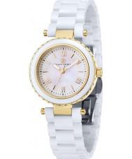 Klaus Kobec KK-10006-02 Ladies venus ouro e relógio de cerâmica branca