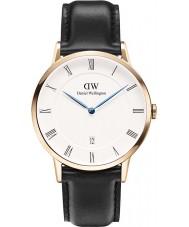 Daniel Wellington DW00100084 Mens dapper Sheffield 38 milímetros subiu relógio de ouro