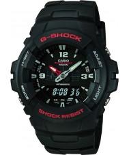Casio G-100-1BVMUR g-shock relógio de exibição combinação Mens