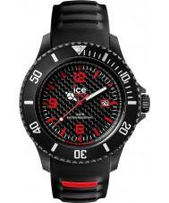 Ice-Watch 001312 Mens ice-carbono pulseira de silicone preta grande relógio