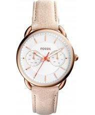 Fossil ES4007 Ladies medida castanho claro relógio com pulseira de couro