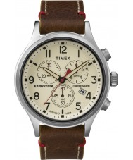 Timex TW4B04300 Mens expedição olheiro de couro marrom relógio cronógrafo
