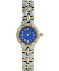 Krug-Baumen 2615DL Regatta mostrador azul pulseira de dois tons 4 diamantes