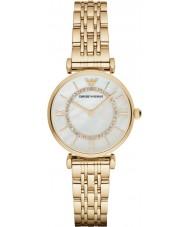 Emporio Armani AR1907 Ladies banhado a ouro pulseira link vestido de relógio
