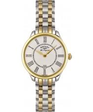 Rotary LB02916-06 Senhoras relógios Elise dois tons relógio de ouro