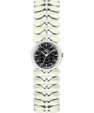 Orla Kiely OK4028 Senhoras laurel aço branco pulseira de relógio