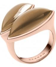 Skagen SKJ0487791-8 Ladies Ditte subiu anel de ouro tom - tamanho p