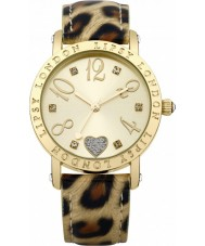 Lipsy LP124 Ladies ouro e animal print relógio