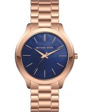 Michael Kors MK3494 Ladies pista magro subiu relógio pulseira de aço de ouro