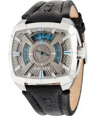 Police 14796JS-61 Mens g força de couro preto relógio pulseira