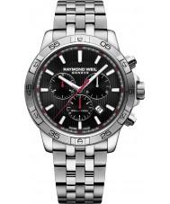 Raymond Weil 8560-ST2-20001 Mens tango relógio cronógrafo de aço de prata