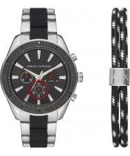 Armani Exchange AX7106 Mens sport watch gift set