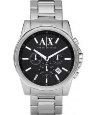 Armani Exchange AX2084 prata preto relógio de vestido cronógrafo dos homens