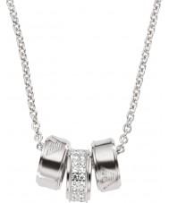 Emporio Armani EG3046040 colar de prata assinatura das senhoras com cadeia de rolo de prata