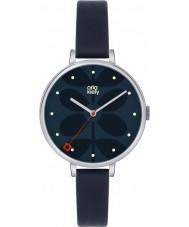 Orla Kiely OK2011 Ladies hera da marinha pulseira de couro relógio