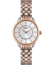 Rotary LB02917-02 Senhoras relógios Elise dois tons rosa relógio de ouro