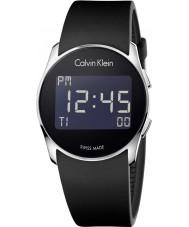 Calvin Klein K5B23TD1 Futuro silicone relógio preto digitais