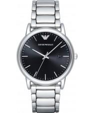 Emporio Armani AR2499 Mens vestido de prata pulseira de aço relógio