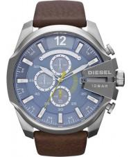 Diesel DZ4281 Mens mega-chefe relógio cronógrafo marrom azul