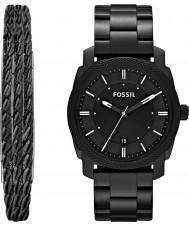 Fossil FS5393SET Mens máquina relógio dom conjunto
