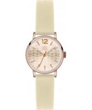 Orla Kiely OK2012 Ladies frankie creme pulseira de couro relógio