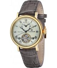 Thomas Earnshaw ES-8047-03 Mens Beaufort barro marrom relógio de pulseira de couro