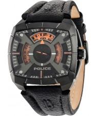 Police 14796JSU-02 Mens g força de couro preto relógio pulseira