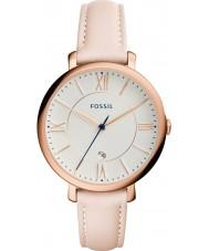 Fossil ES3988 Ladies Jacqueline luz rubor relógio com pulseira de couro