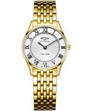 Rotary LB90803-01 Ladies ouro ultra slim relógio banhado