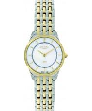 Rotary LB08001-02 Ladies ultra slim relógio de dois tons