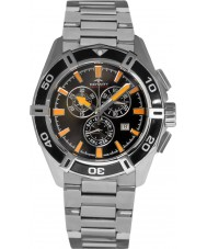 Rotary AGB90088-C-04 Mens Aquaspeed pacífico relógio cronógrafo preto prata