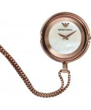 Emporio Armani AR7388 Ladies subiu banhado a ouro pingente de relógio