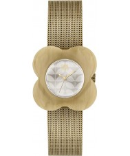 Orla Kiely OK4032 Ladies poppy chifre caso de ouro de malha pulseira de relógio