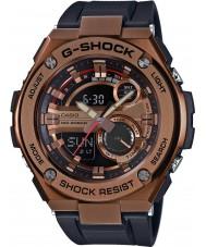 Casio GST-210B-4AER Mens g-choque auto luz conduzida da pulseira de relógio resina preta