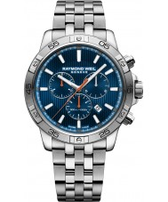 Raymond Weil 8560-ST2-50001 Mens tango relógio cronógrafo de aço de prata