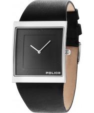 Police 14694MS-61 Mens skyline x couro preto relógio pulseira