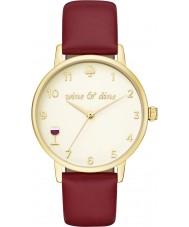Kate Spade New York KSW1188 Senhoras Borgonha metro relógio com pulseira de couro