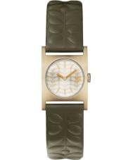 Orla Kiely OK2128 Ladies nemo relógio com pulseira de couro verde-oliva