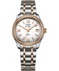 Rotary LB90175-01 Senhoras relógios legado dois tons pulseira de aço relógio