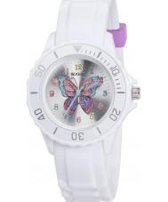 Tikkers TK0052 Meninas glitter branco relógio borboleta