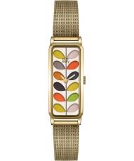 Orla Kiely OK4034 Ladies tronco de impressão relógio de ouro de malha pulseira