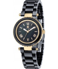 Klaus Kobec KK-10006-05 Ladies venus ouro e relógio de cerâmica preta