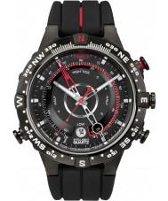 Timex T2N720 Mens todos maré negra temperatura bússola relógio
