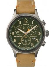 Timex TW4B04400 Mens expedição olheiro couro tan relógio cronógrafo