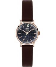 Orla Kiely OK2014 Ladies frankie marrom escuro relógio de pulseira de couro