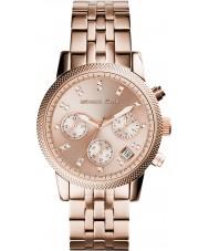 Michael Kors MK6077 Ladies Ritz rosa banhado a ouro relógio cronógrafo