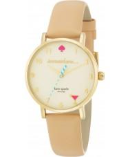 Kate Spade New York 1YRU0484 Ladies metro couro vachetta nua pulseira de relógio