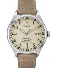 Timex TW2P83900 Homens Waterbury tan couro relógio pulseira