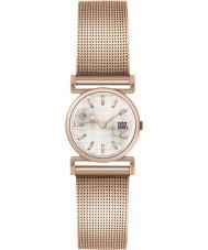 Orla Kiely OK4036 Senhoras cecelia pulseira rosa relógio de ouro de malha