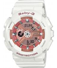 Casio BA-110-7A1ER Baby-G tempo do mundo resina branca relógio de pulseira